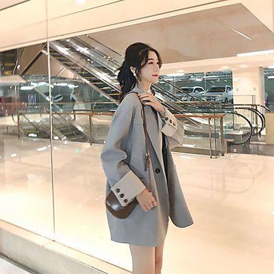 26061/2021春季新款小香风小西装外套女设计感小众韩版复古港味百搭西服