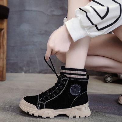 女童马丁靴2020年新款秋冬款中大童12英伦风时尚女孩短靴加绒棉鞋