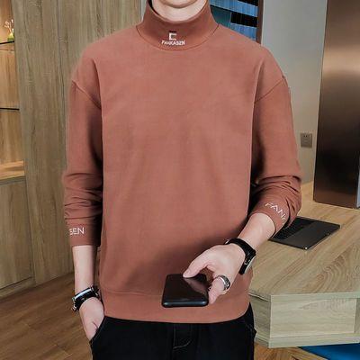 卫衣男士秋冬季双面绒2020年新款半高领韩版时尚潮流帅