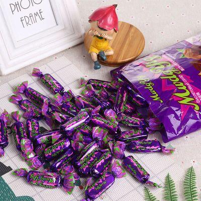 俄罗斯紫皮糖正宗巧克力夹心糖果少女心休闲零食喜糖酥糖年货批发