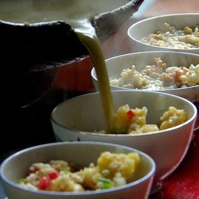 城步油茶 即食小吃 冲泡油茶 咸油茶 苗家早餐茶带餐具2盒装 包邮