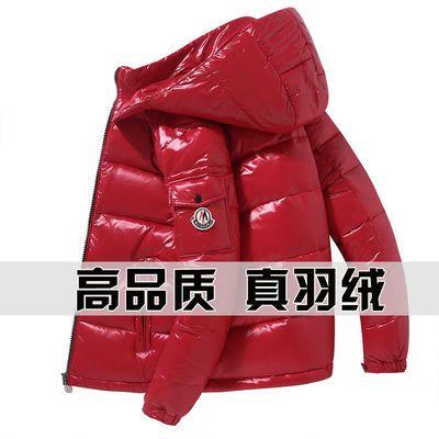 冬季新款亮面男士羽绒服短款加厚学生鸭绒中青年免洗帅气情侣外套