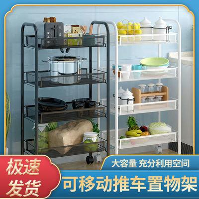 虎牌厨房置物架落地多层水果蔬菜收纳架可移动卧室客厅小推车