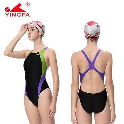 73050/正品 英发/YINGFA 女士专业泳衣 英发976日常训练泳衣4色不带胸垫