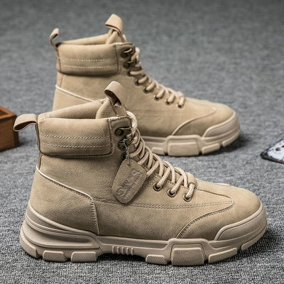 马丁靴男秋冬季高帮靴子复古英伦工装男靴保暖军靴休闲鞋