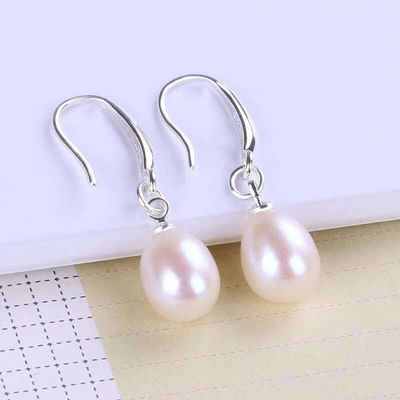 925纯银贝壳珍珠耳扣女长款气质耳环防过敏时尚耳坠闺蜜同款耳饰