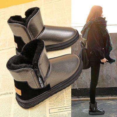雪地靴女2020年新款加绒加厚中筒防水防滑皮毛一体冬季保暖棉鞋