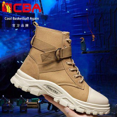 CBA男士高帮鞋工装沙漠厚底炸街马丁靴英伦风复古运动休闲男潮鞋
