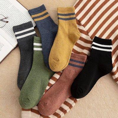 袜子男女情侣秋冬季加厚款韩版中筒袜日系堆堆袜运动百搭潮长筒袜