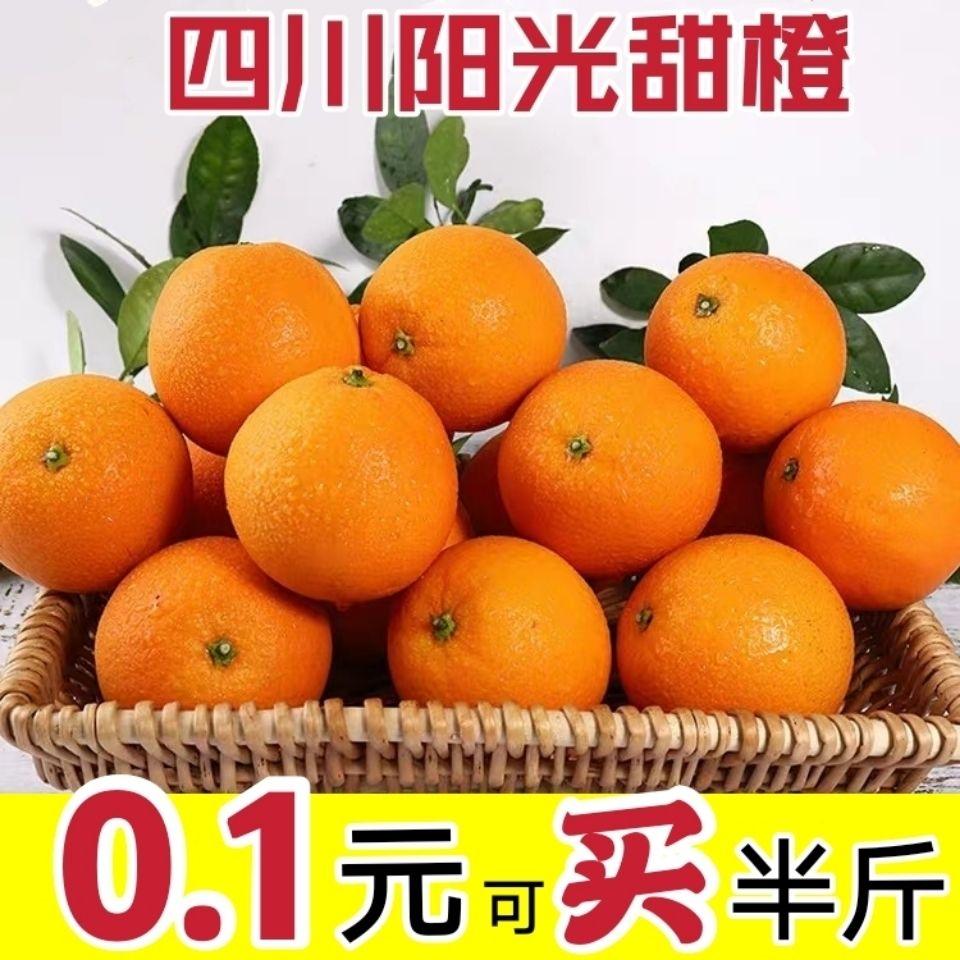 高山脐橙新鲜橙子薄皮应季孕妇水果爆甜多汁冰糖鲜橙整箱批发现摘