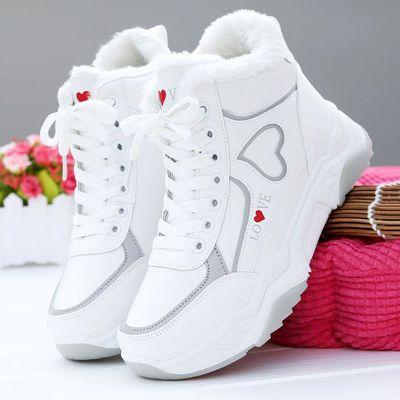 棉鞋女冬季加绒高帮鞋女2020新款雪地靴女潮流马丁短靴子运动休闲