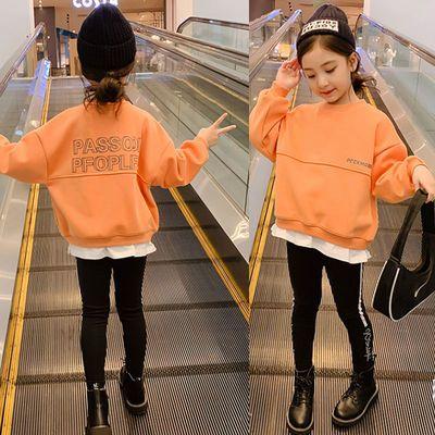 78986/女童春秋棉卫衣2021新款儿童打底衫中大童韩版洋气时髦女孩上衣潮