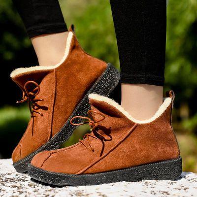 【学生女棉鞋】冬季棉鞋时尚潮流平底高帮加绒保暖雪地靴休闲鞋女