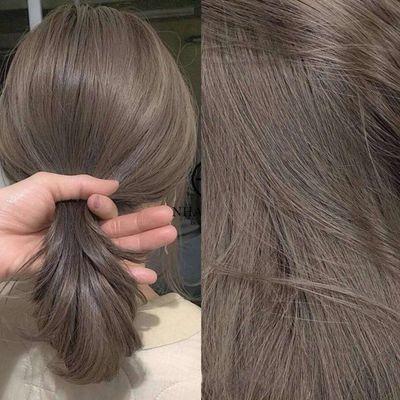 奶茶灰棕色染发剂2020流行色纯植物染发膏黑茶色自己在家染发女