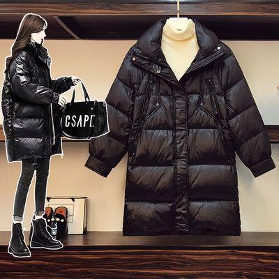 大码黑色羽绒棉服女2020年新款冬装胖妹妹中长款韩版宽松显瘦外套【6天内发货】