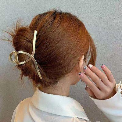 金属法式韩版大鲨鱼夹个性ins抓夹发夹后脑勺气质珍珠网红发夹