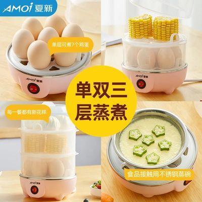 煮蛋器蒸蛋器自动断电家用小型煮鸡蛋羹1人多功能迷你早餐机神器