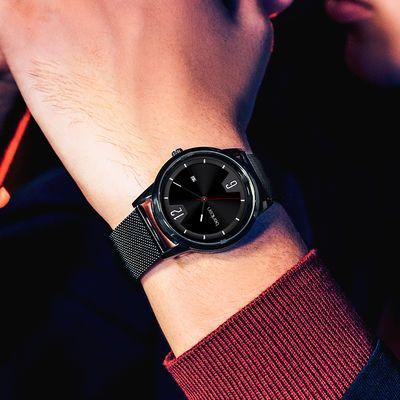 benken时尚手表男学生潮流高中生男式新概念硅胶带防水夜光石英表
