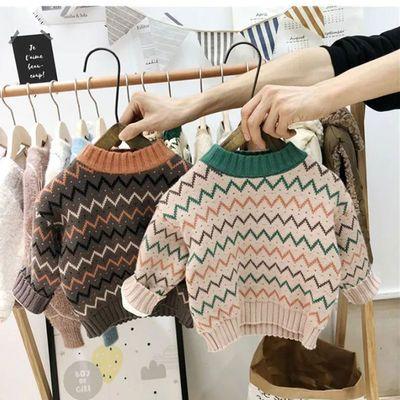 儿童加绒毛衣棉2020年秋冬新款童装男女中小童婴儿宝宝套头针织衫