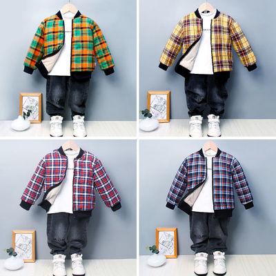 儿童棉袄男童外套女童冬季加绒加厚保暖羽绒棉服中大童棒球服棉衣