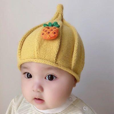 宝宝帽子秋冬西瓜帽可爱超萌婴儿尖尖帽女儿童毛线帽网红婴幼儿帽