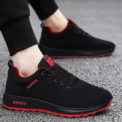 2020年飞织男鞋新款鞋韩版休闲跑步鞋轻便耐磨潮鞋时尚学生男鞋子
