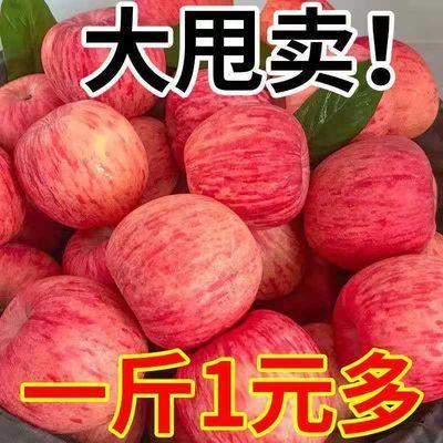 【不脆甜包赔】新鲜富士苹果水果3/5/10斤孕妇脆甜整箱包邮丑苹果