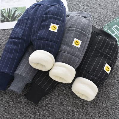 2020冬季新品韩版男女童宝宝加厚工装儿童加绒保暖棉裤休闲运动裤