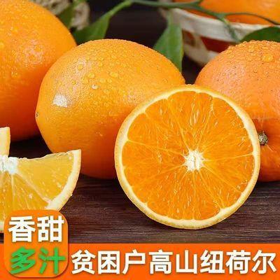 【净重9斤装纽荷尔】当季现摘脐橙新鲜橙子清甜爽口多汁水果3/5斤