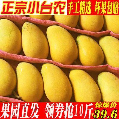 正宗海南小台农芒果水果当季新鲜热带水果甜心芒果整箱包邮