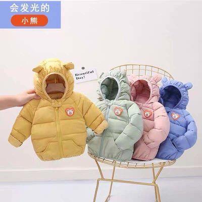 婴儿棉衣冬加厚儿童羽绒棉服男女童冬装加厚宝宝小童连帽外套棉袄