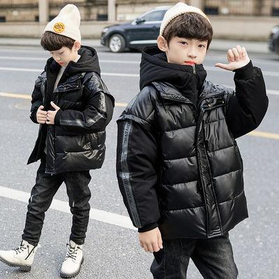 男童冬季棉衣外套2020新款儿童中大童洋气棉服加厚短款男孩棉袄潮
