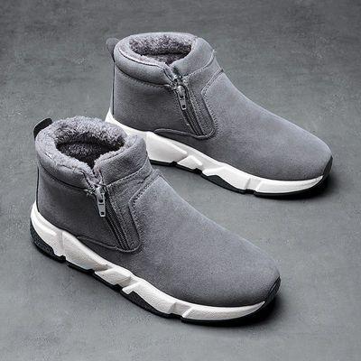 鞋子男冬季加厚老棉鞋毛绒保暖雪地靴防水厚底短靴男加绒男士鞋子