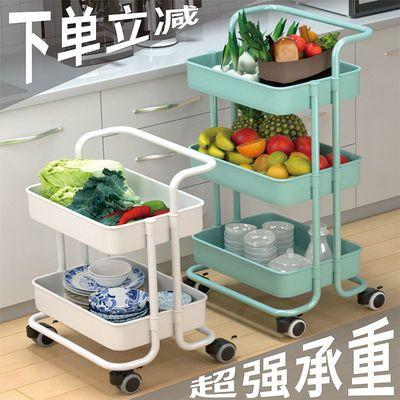 厨房置物架落地多层带轮小推车卧室洗澡间多功能零食储物收纳架子