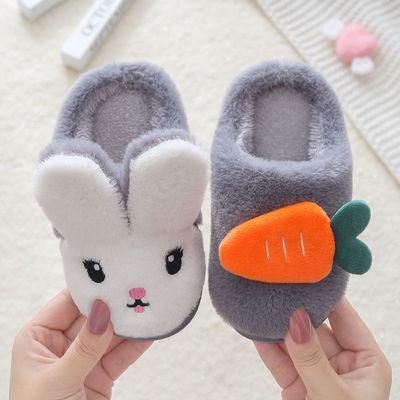 儿童棉拖鞋冬季新款卡通室内家用女童可爱防滑男童保暖宝宝棉拖鞋