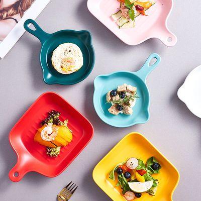 陶瓷烤盘烤箱专用欧式烤盘家用微波炉盘早餐盘烘焙芝士焗饭盘子