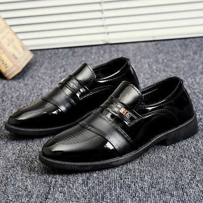 潮鞋秋冬男士皮鞋商务正装休闲皮鞋圆头男鞋韩版潮流结婚鞋伴郎鞋