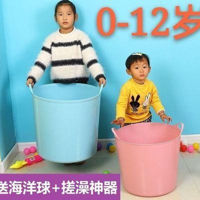 加大塑料儿童泡澡通洗澡桶沐浴桶宝宝洗澡桶脏衣桶玩具收纳桶