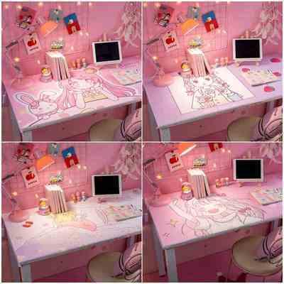 桌面贴纸装饰小图案墙纸自粘防水桌贴书桌柜子桌子ins风可爱壁纸