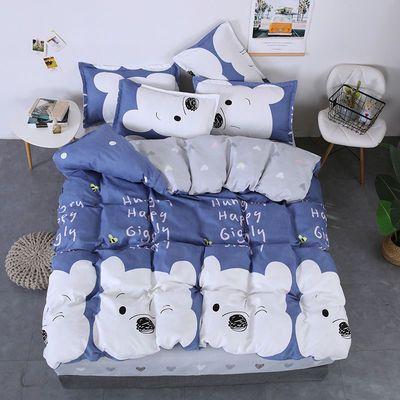 植物羊绒加厚亲肤保暖四件套学生宿舍床上用品【12月3日发完】