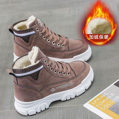 棉鞋女加绒保暖高帮鞋2020冬新款加厚防滑女鞋学生运动鞋雪地短靴