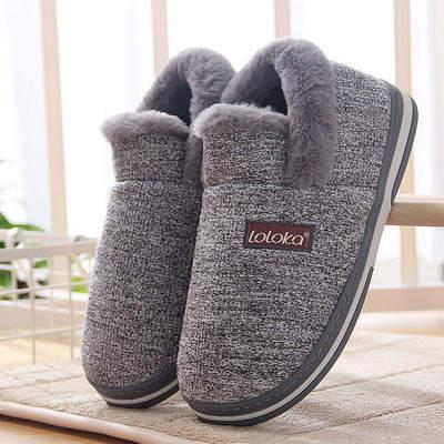路路佳棉拖鞋男冬季保暖包跟家用拖鞋厚底防滑棉鞋女月子高帮棉鞋