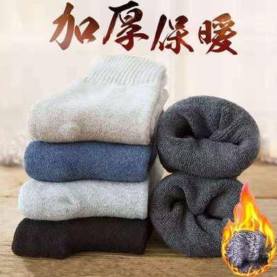 袜子男士中筒秋冬季长筒袜加厚加绒冬天男士保暖高筒毛巾长袜百搭