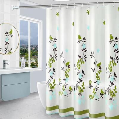 浴室防水防霉淋浴帘子遮光加厚帘布卫生间隔断门帘浴帘套装免打孔
