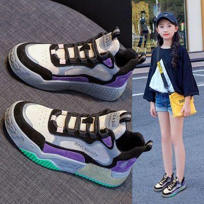 74857/女童鞋子2021春秋季新款儿童运动鞋老爹棉鞋小学生中大童二棉鞋