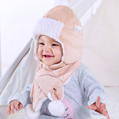 婴儿帽子冬季女可爱新生儿宝宝帽子男宝儿童加绒加厚保暖帽0-2岁