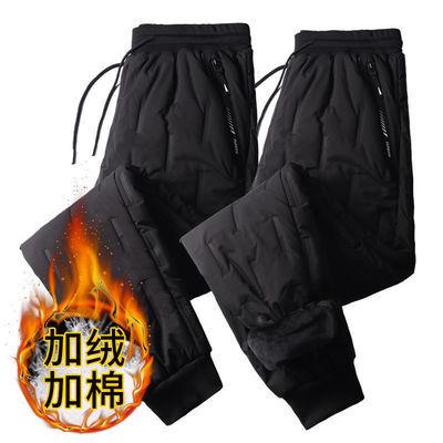 羽绒棉裤男士外穿冬季加棉加厚保暖裤中青年男装爸爸装宽松大码男