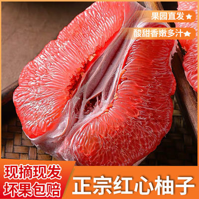 重庆热销正宗红心柚子蜜柚剥皮红肉蜜柚当季新鲜水果现摘现发包邮