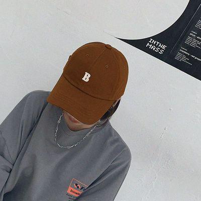 60271/帽子女韩版潮ins鸭舌帽百搭字母B时尚遮阳帽男太阳帽秋冬棒球帽