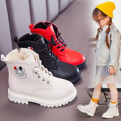 女童棉鞋男童加绒短靴儿童马丁靴2020秋冬新款学生英伦风高帮保暖